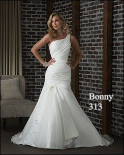 bonney 313 one shoulder wedding dress