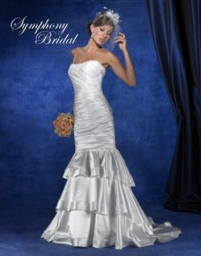convertible wedding gown, detachable train