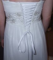 corset lace up wedding dress