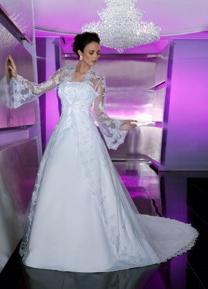 davinci long sleeved wedding dress
