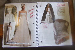 design a wedding gown collage