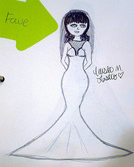 how to design your own wedding dress using a dressmaker