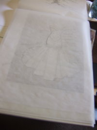 trace a wedding dress
