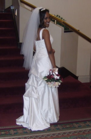 tiered french bustle