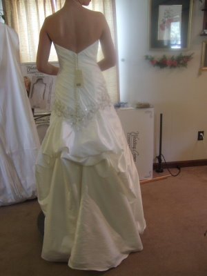 picture of wedding dress bustle french
