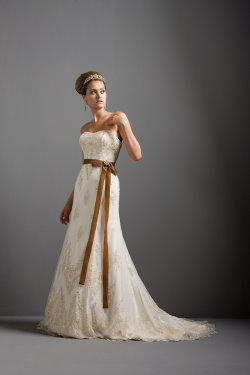 gold wedding dresses Justin Alexander