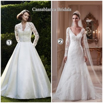 long sleeve bridal dresses