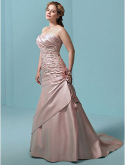 pink plus size wedding dress alfred angelo