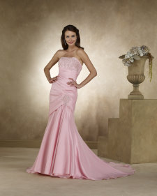 pink wedding dress, forever yours bridal 48120
