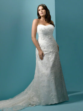 alfred angelo plus size wedding dress 1807W