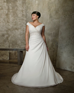 plus size bridal gown, mori lee 3052
