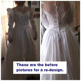 Custom wedding dress makeover redesigns redesign of a gown once worn by mother junglespirit Choice Image