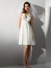 short wedding gown, alfred angelo