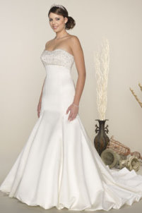 strapless wedding gowns, venus bridals