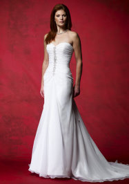 strapless wedding dress, alyce bridal 7100, strapless wedding gown
