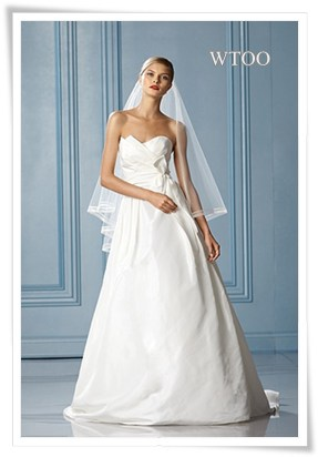 A-line wedding dress by WTOO