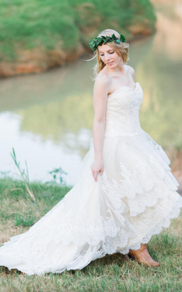 Rustic Country Wedding gown