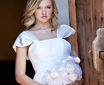 White wedding gown for second time bride
