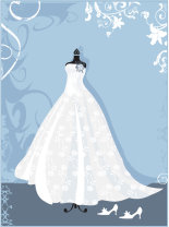 strapless white wedding dress graphic