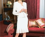 Two piece ivory wedding suit