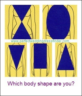 Body shapes illustrated square inverted triangle