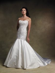 true mermaid wedding dress style